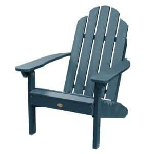 Classic Wesport Nantucket Blue Recycled Plastic Adirondack Chair