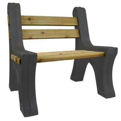 Graphite Outdoor Millennial Bench Ends with Back Rest Made From Rotomolded UV Stabilized Durable Polyethylene