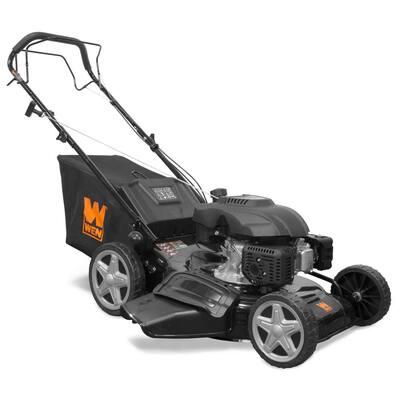 21 in. 173 cc Gas-Powered 4-in-1 Walk Behind Self-Propelled Lawn Mower
