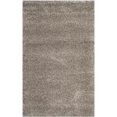 Milan Shag Gray 8 ft. x 10 ft. Solid Area Rug