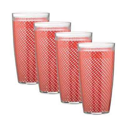 Fishnet 22 oz. Flag Red Insulated Drinkware (Set of 4)