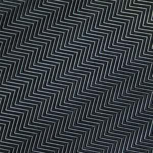 Fish-Bone Rubber Flooring Black 36 in. W x 96 in. L Rubber Flooring (24 sq. ft.)