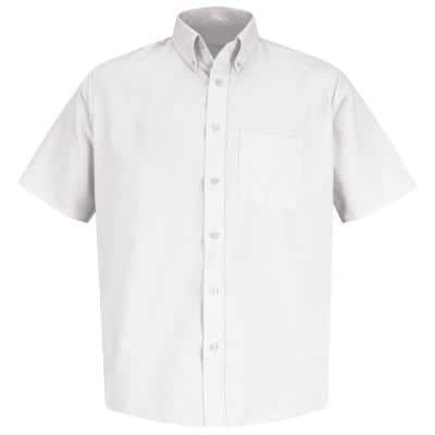 Men's Size XL White Easy Care Dress Shirt