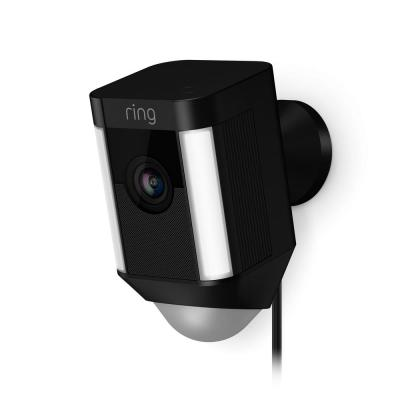 Spotlight Cam Wired (Plug-In) Outdoor Rectangle Security Camera, Black