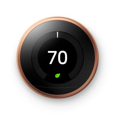 Nest Learning Thermostat - Smart Wi-Fi Thermostat - Copper