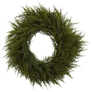 24 in. Cedar Wreath