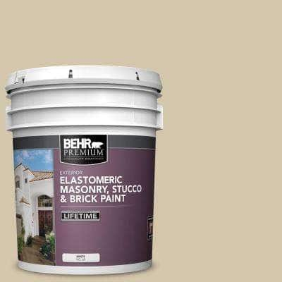 5 gal. #YL-W11 Khaki Shade Elastomeric Masonry, Stucco and Brick Exterior Paint