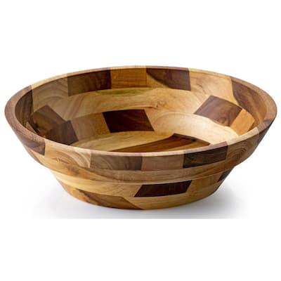 12 in. 100 fl. oz. Acacia Wood Serving Bowl