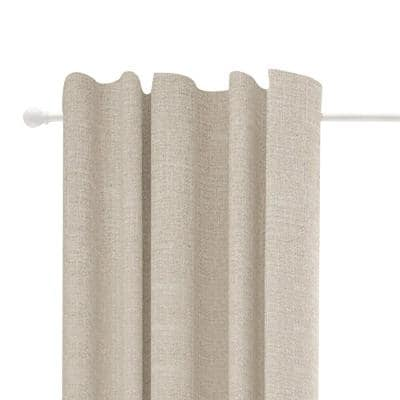 Chelsea 28 in. - 48 in. Single Curtain Rod in White with Finial