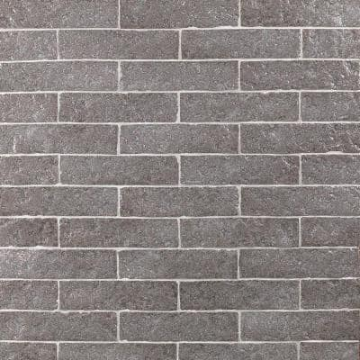 Weston Temp Dark Gray 2 in. x 8 in. 14mm Glazed Clay Subway Wall Tile (40-piece 4.78 sq. ft. / box)