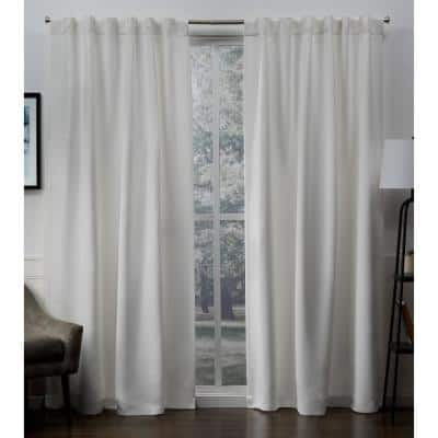 Vanilla Thermal Back Tab Blackout Curtain - 52 in. W x 84 in. L (Set of 2)
