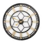 24 in. H x 24 in. W Round Wall Clock with Aged Black Metal Case