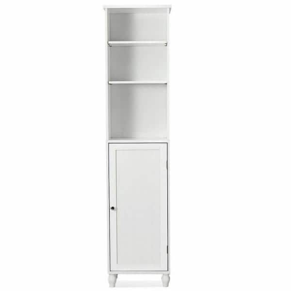 Costway 9 In W Bathroom Storage Cabinet Tower Bath Cabinet Space Saver Shelving Display Cabinet Hw57022 The Home Depot