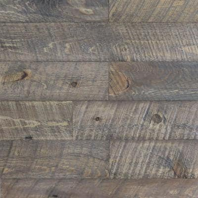 3/8 in. x 4-1/4 in. x 4-1/4 in. Board Barntique Concord Barnwood Wall Panels in 100 Year Old Traditional Finish