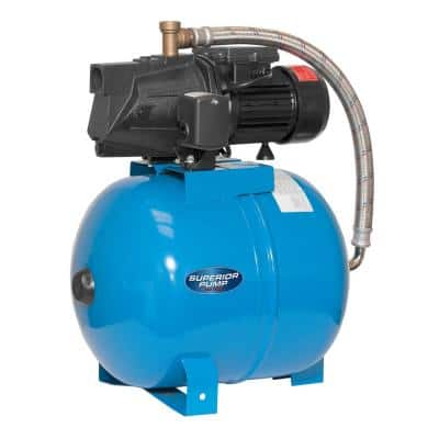 1/2 HP Shallow Well Jet Tank System with 50L Tank