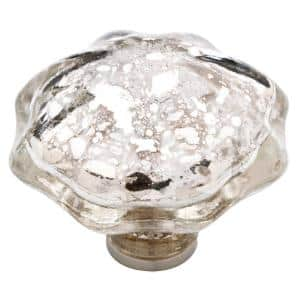 1-13/16 in. (46mm) Clear Mercury Glass Cabinet Knob