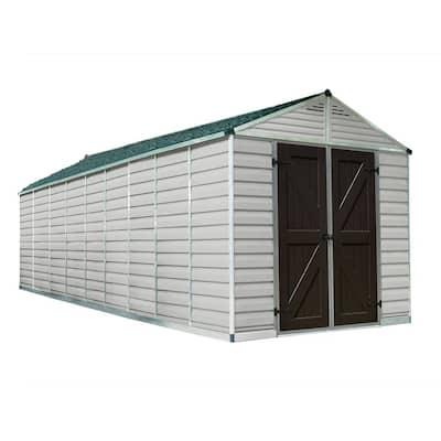 SkyLight 8 ft. x 20 ft. Tan Storage Shed