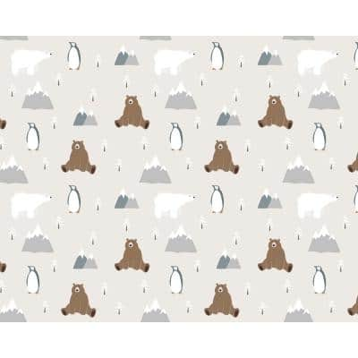 Winter With Animal Friends Wall Mural