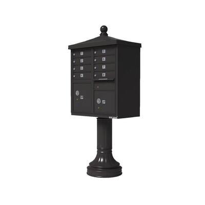 Vital 1570 8 Mailboxes 2 Parcel Lockers 1 Outgoing Pedestal Mount Cluster Box Unit