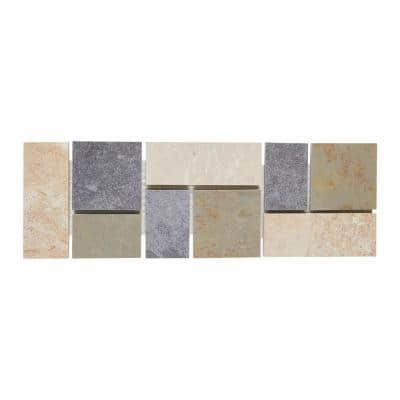 Continental Slate Multi-Colored 4 in. x 12 in. Porcelain Decorative Accent Floor and Wall Tile (0.33333 sq. ft. / piece)