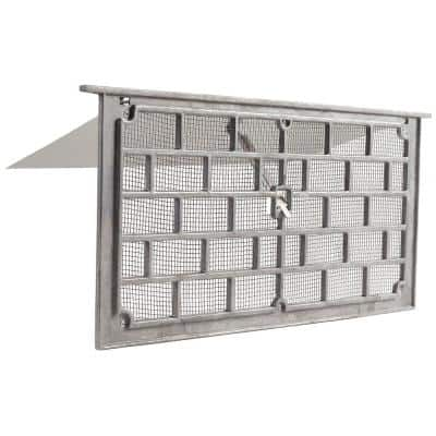 Grill Style 16 in. x 8 in. Mill Aluminum Foundation Vent