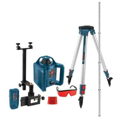 800 ft. Horizontal/Vertical Rotary Laser Level Self Leveling Complete Kit Factory Reconditioned (5-Piece)