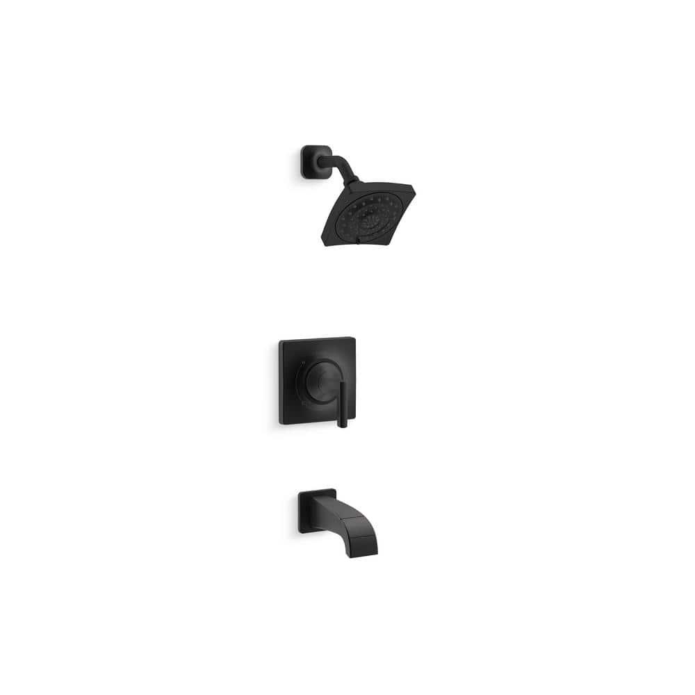 KOHLER Katun Single Handle 20 Spray Tub and Shower Faucet in Matte Black  Valve Included K R20 20E BL   The Home Depot