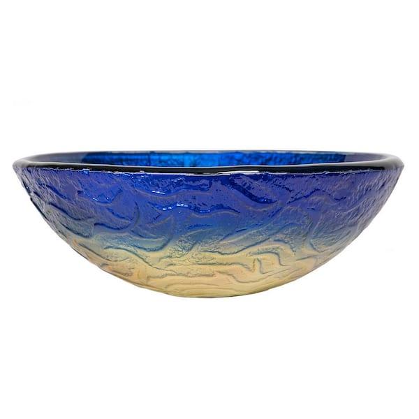 Eden Bath True Planet Glass Vessel Sink In Multi Colors Eb Gs17 The Home Depot