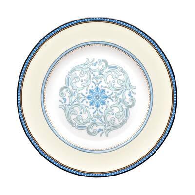 Menorca Palace Blue/Yellow White Bone China Salad Plate 8-1/4 in.