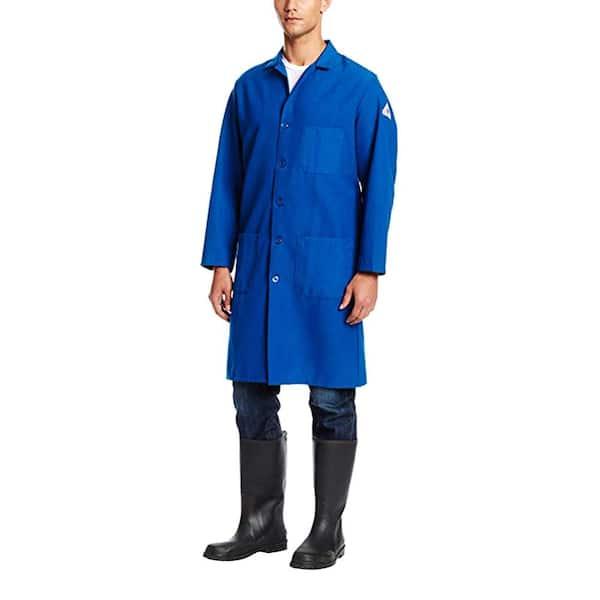 Bulwark Nomex Iiia Men S Medium Royal Blue Lab Coat Knl2rb Rg M The Home Depot