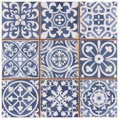 Faenza Azul Encaustic 13 in. x 13 in. Ceramic Floor and Wall Tile (20 Cases/244 sq. ft./Pallet)