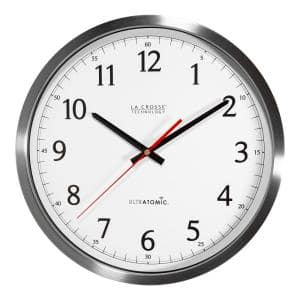 Deals on La Crosse Technology UltrAtomic 14 in. Round Analog Wall Clock