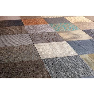 Versatile Assorted Commercial Pattern 24 in. x 24 in. Carpet Tile (10 Tiles/Case)