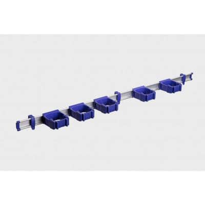 37 in. Purple Garage, Garden and Sports Tool Organizer with 5 One-Size-Fits-All Tool Holders