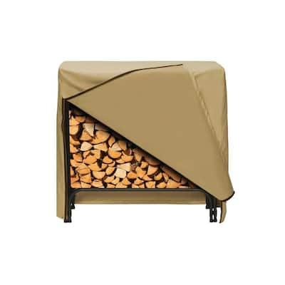 48 in. x 42 in. Log Rack Cover in Khaki