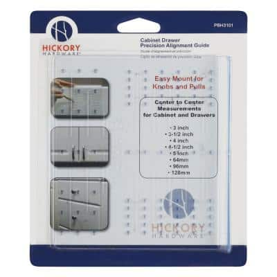 Mounting Templates Collection Cabinet Drawer Knob and Pull Mounting Kit Installation Template in Clear Blue