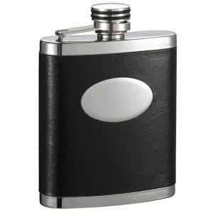 Joey Black and Stainless Steel Liquor Flask