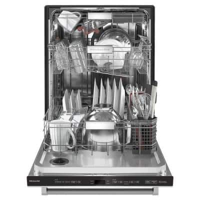 24 in. PrintShield Stainless Steel Top Control Built-in Tall Tub Dishwasher with Stainless Steel Tub, 44 dBA