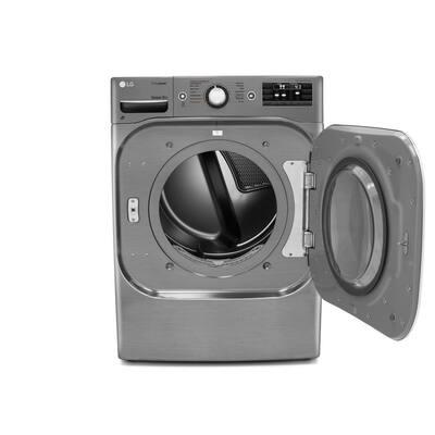 9.0 cu. ft. Stackable Electric Dryer w/ TrueSteam, SteamFresh and  Pedestal Compatible in Graphite Steel