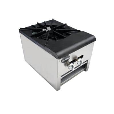 18 in. Commercial Single Burner Gas Cooktop Stock Pot