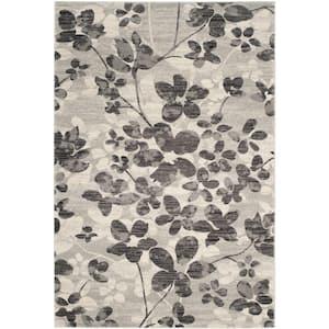Evoke Grey/Black 5 ft. x 8 ft. Area Rug