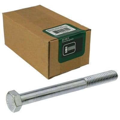 5/16 in.-18 x 4 in. Zinc Plated Hex Bolt (50-Pack)