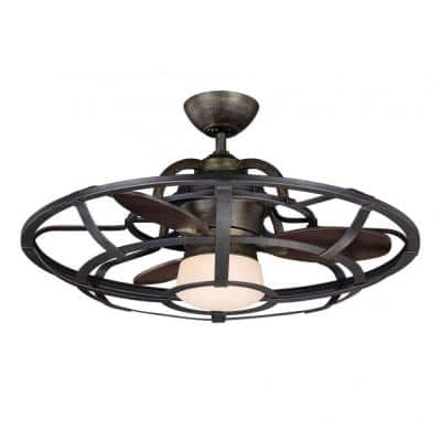 Aumbrie 26 in. Reclaimed Wood Indoor Ceiling Fan with Remote Control