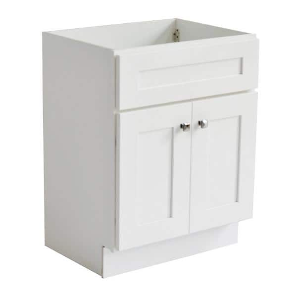 Design House Brookings Plywood Rta 24 In W X 18 In D 2 Door Shaker Style Bath Vanity Cabinet Only In White 586925 The Home Depot