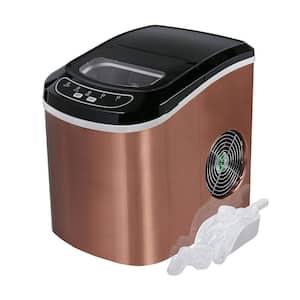 26 lb. Mini Cube Portable Ice Maker in Bronze