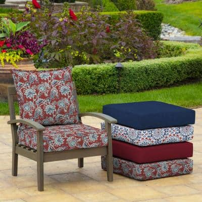 24 in. x 24 in. Caspian 2-Piece Deep Seating Outdoor Lounge Chair Cushion