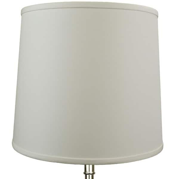 Slant Linen Ivory Empire Lamp Shade, 14 Inch Lamp Shade Harp