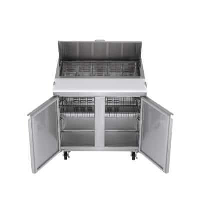7.6 cu. ft. Commercial Sandwich/Salad Prep Table Freezerless Refrigerator in Stainless Steel