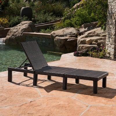 Hezekiah Multibrown 1-Piece Wicker Outdoor Chaise Lounge