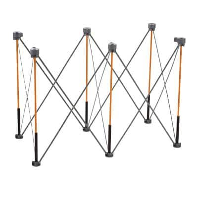 36 in. x 24 in. x 48 in. Steel Centipede Tall Work Support Sawhorse with Accessories